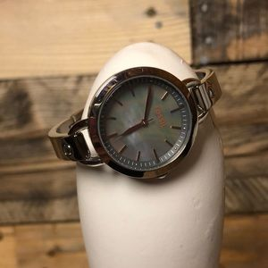 Fossil Mother of Pearl Silver Watch